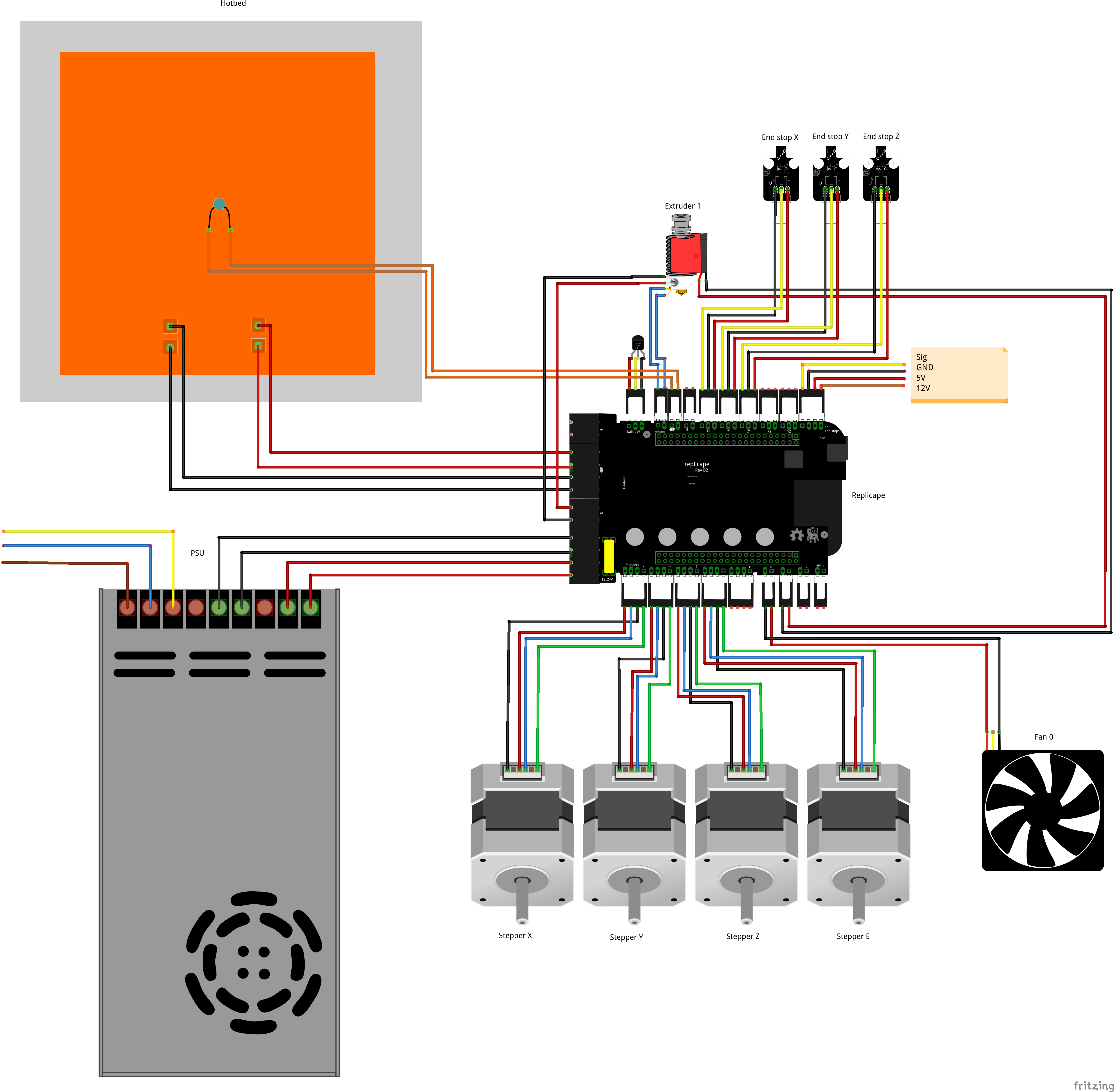 Replicape Rev B Thing Printer Type K Thermocouple Wiring Diagram The Fritzing Board Below Shows Most Basic Setup For Connecting
