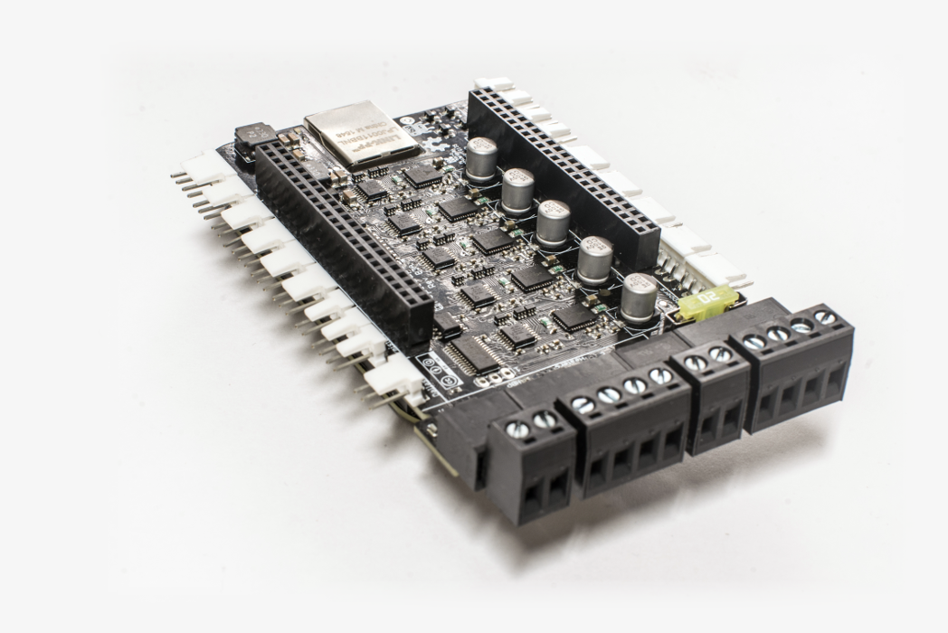 Replicape is a super smart 3D printer  controller board.